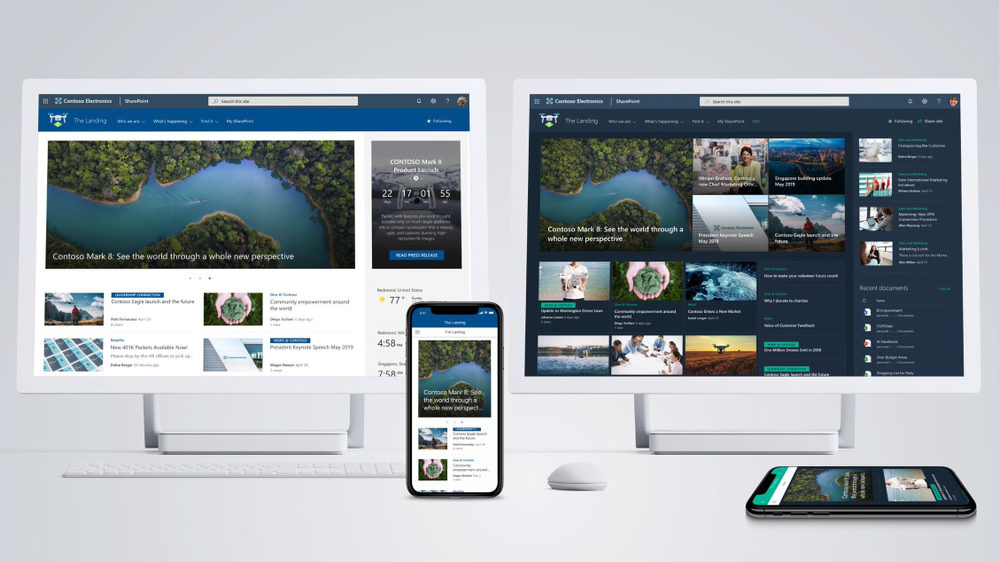 SharePoint home sites is a communication site that you create and set as the top landing page for all users in your intranet. It brings together news, events